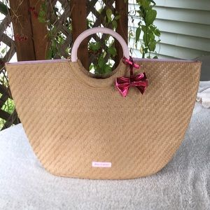 Juicy Couture straw handbag.